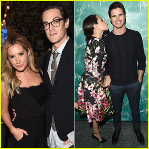 Ashley Tisdale & Italia Ricci Bring Their Men Along To Ted Baker Launch Event