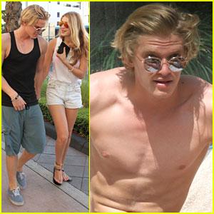 Shirtless Cody Simpson Soaks Up Sun in Miami With Gigi Hadid