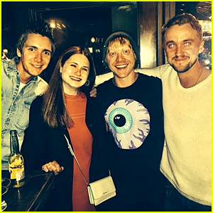 Tom Felton Had an Epic 'Harry Potter' Reunion Over the Weekend!