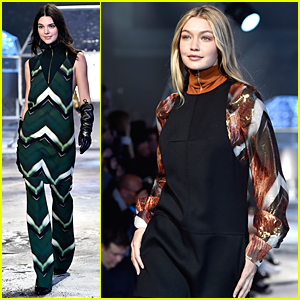 Kendall Jenner & Gigi Hadid Bring Color to H&M Fashion Show