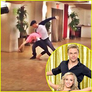 Watch Nastia Liukin & Derek Hough's 'Dancing With The Stars' Rehearsal!