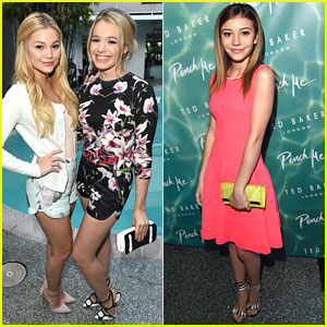 Olivia Holt & G Hannelius Hit Up Ted Baker London Launch Event