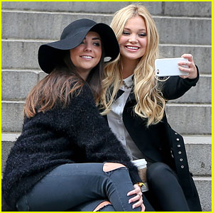 Olivia Holt Spends Time With BFF Natalie In New York City