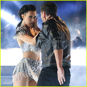 Rumer Willis & Val Chmerkovskiy Get The Support of Her Dad Bruce on 'DWTS' - See the Pics!