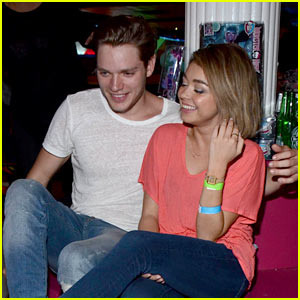 Sarah Hyland Puts On Her Skates with Boyfriend Dominic Sherwood at JJ's Throwback Thursday!