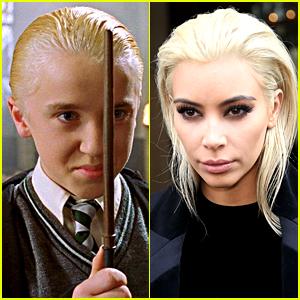 Tom Felton's Reaction to Kim Kardashian's Blonde Hair is Perfect!