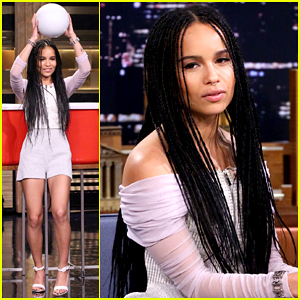 Zoe Kravitz Plays Giant Beer Pong on 'The Tonight Show' - Watch Here!