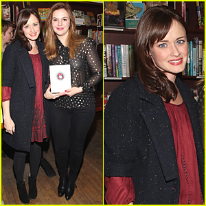 Alexis Bledel Supports Amber Tamblyn's New Book 'Dark Sparkler'