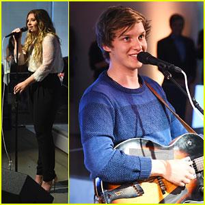 Ella Henderson & George Ezra Perform At iHeartMedia