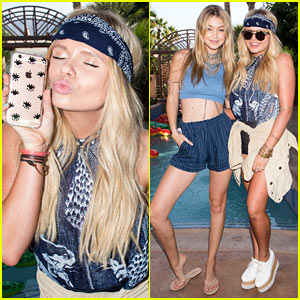 Alli Simpson Models Sonix Phone Case Alongside Gigi Hadid at Just Jared's Festival Party!