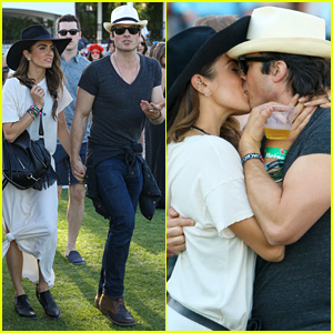 Ian Somerhalder & Nikki Reed Pack on the PDA at Coachella 2015