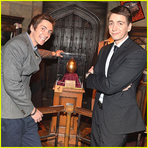 James & Oliver Phelps Launch 'Harry Potter: The Exhibition' In Paris