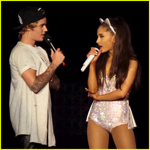 Justin Bieber Performs 'Where Are U Now' at Ariana Grande's Concert! (Video)