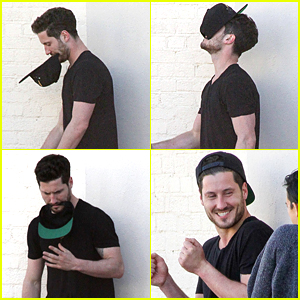 Val Chmerkovskiy Pulls Out Hat Trick With Rumer Willis During DWTS Practice