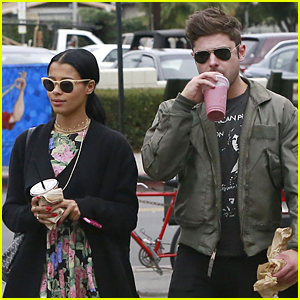 Zac Efron & Sami Miro Grab Smoothies Together at Oaks G