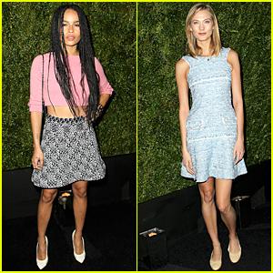 Zoe Kravitz & Karlie Kloss Doll Up For Tribeca Dinner