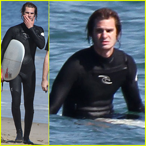 Andrew Garfield Goes Surfing After Reuniting with Emma Stone!