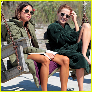 Zoey Deutch & Aubrey Plaza Buddy Up on 'Dirty Grandpa' Set!