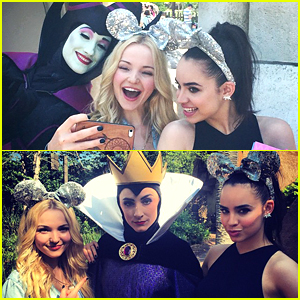 Dove Cameron & Sofia Carson Meet Their 'Descendants' Parents at Walt Disney World's Summer Kick Off Party!
