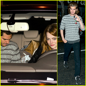 Emma Stone Dresses Down for Date Night with Andrew Garfield!