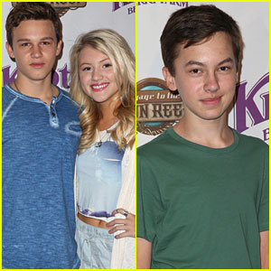 Gavin MacIntosh & Hayden Byerly Brave The Rain For Knott's Berry Farm Ride Launch