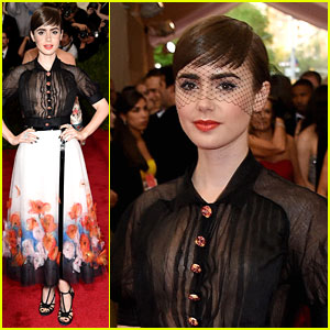 Lily Collins Is Glittered, Glammed & Grateful at the MET Gala 2015