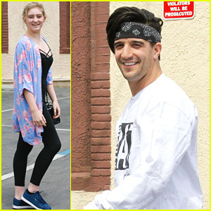 Willow Shields & Mark Ballas Meet Back Up At Studio For the DWTS Finals