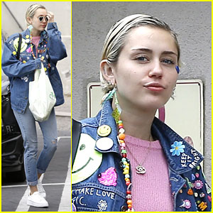 Miley Cyrus Brings the 90s Back With Denim & Spice Girls