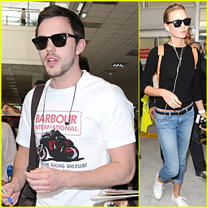 Nicholas Hoult & Karlie Kloss Fly to Nice For Cannes Film Festival