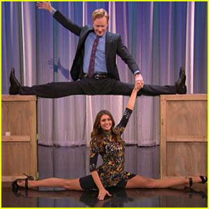 Nina Dobrev Does Splits Easily on 'Conan' - Watch Now