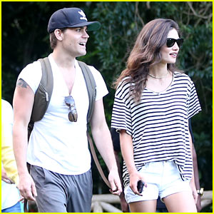 Paul Wesley & Phoebe Tonkin Couple Up While Touring Rio!