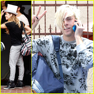 Allison Holker Wears White Top Hat To DWTS With Riker Lynch