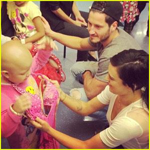 Rumer Willis & Val Chmerkovskiy Visit Children's Hospital LA After DWTS Practice