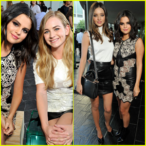 Selena Gomez & Britt Robertson Meet Up at Louis Vuitton Presentation