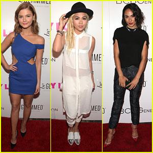 Stefanie Scott & Hayley Kiyoko Bring 'Jem' To Nylon's Young Hollywood Party