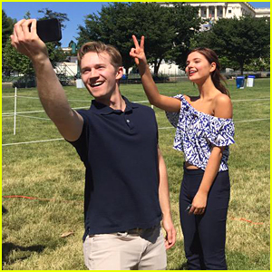 Stefanie Scott & Jason Dolley Take Silly Selfies During Memorial Day Concert Rehearsals