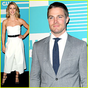 Stephen Amell & Emily Bett Rickards Hit The CW Upfronts With 'Arrow' Cast