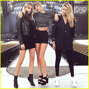 Taylor Swift Brings Martha Hunt & Gigi Hadid To Detroit For '1989' Tour Stop