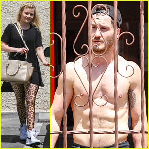 Shirtless Val Chmerkovskiy & Witney Carson Get Practice In For DWTS Perfect Ten Tour