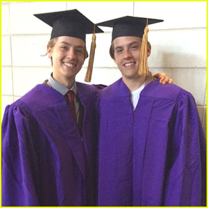 Cole & Dylan Sprouse Switched Places at NYU Graduati