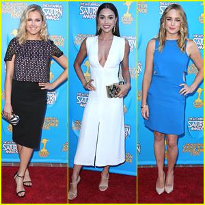 Eliza Taylor & Lindsey Morgan Rep 'The 100' At Saturn Awards 2015