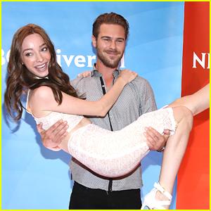 Grey Damon Picks Up 'Aquarius' Co-Star Emma Dumont At NBC's Summer Press Day