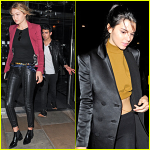 Gigi Hadid & Kendall Jenner Hit the Town with Joe Jonas