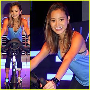 Jamie Chung Hosts Fun Spin Class at Samsung Studio