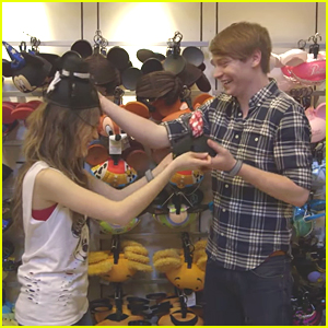 Laura Marano & Calum Worthy Try On Mickey Ear Hats Together For 'Coolest Summer Ever'