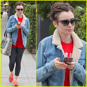 Lily Collins Rocks Long Locks Once Again