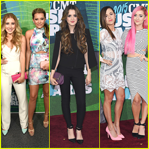 Laura Marano Hangs With Maddie & Tae at CMT Music Awards 2015