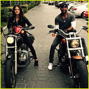 Ricky Whittle & Marie Avgeropoulos Arrive By Motorcycle for Lunch With The 100 Showrunner Jason Rothenberg