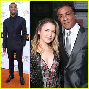 Taylor Spreitler Fangirled After Meeting Sylvester Stallone at Lupus LA Orange Ball
