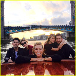 Friendly Exes Taylor Swift & Joe Jonas Double Date in Londo